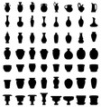 jars bowls and vases vector image