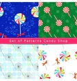 Seamless patterns with peppermint candy vector image