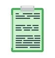 Clipboard document content checklist test icon vector image