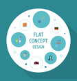 flat icons wisp sweeper faucet and other vector image
