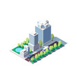 3d isometric square ground complex vector image vector image