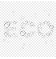 abstract background with transparent water drops vector image vector image