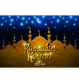 Arabic Calligraphy Ramadan Kareem with Islamic vector image
