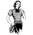 Beautiful fashionable girl vector image