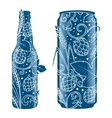 Beer can and bottle abstract ornament vector image