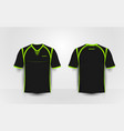 black and green sport football kits t-shirt vector image vector image