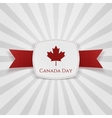 Canada Day festive Badge with Ribbon vector image vector image