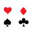 casino card icon template vector image vector image