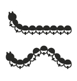 Caterpillar Icon Set on White Background vector image vector image