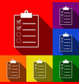 checklist sign set of icons vector image vector image