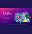 chemical recycling concept landing page vector image vector image