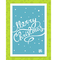 christmas hand written text on blue backg vector image vector image