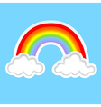 clouds with rainbows b vector image vector image