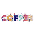 coffee typography banner template flat vector image vector image