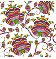 colorful striped ornamental paisley seamless vector image vector image
