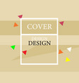 cover design brown vector image