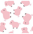 cute piglet farming seamless pattern vector image