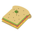 delicious sandwich food vector image vector image