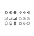 different mobile phone notification pictograms vector image vector image