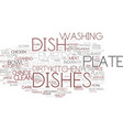 dishes word cloud concept vector image vector image
