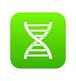 dna icon digital green vector image vector image