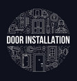 doors installation repair banner vector image