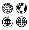 Earth Globe Icons Set vector image vector image