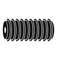 electric spring coil icon simple style vector image vector image