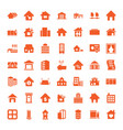 estate icons vector image vector image