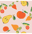 fruits and berries pattern vector image vector image