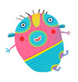 funny kids monster jumping creature vector image vector image
