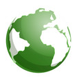 green globe earth icon cartoon style vector image