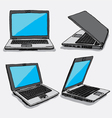 hand drawn four laptops vector image vector image