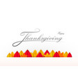 happy thanksgiving banner with calligraphy text vector image vector image