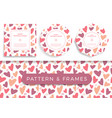 heart card set poster banner or card frame border vector image