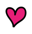 heart love drawing isolated icon vector image