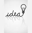 idea typography vector image vector image