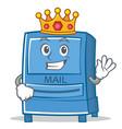 king mailbox character cartoon style vector image vector image