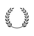 laurel wreath award branch victory icon vector image