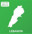 lebanon map icon business concept lebanon vector image vector image