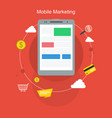 mobile marketing style flat design vector image vector image