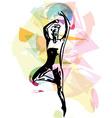 modern ballet dancer man vector image vector image