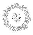 monochrome colored filigree wreath hand drawn vector image vector image