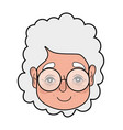 old woman face with hairstyle and glasses vector image vector image