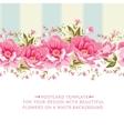 Ornate pink flower border with tile vector image vector image