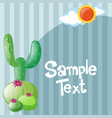 paper design with cactus tree vector image