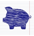 Pig money bank sign vector image vector image
