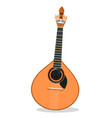 portuguese fado guitar vector image vector image