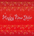 postcard happy new year red snowflakes vector image vector image