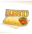 poster for mexican burrito vector image